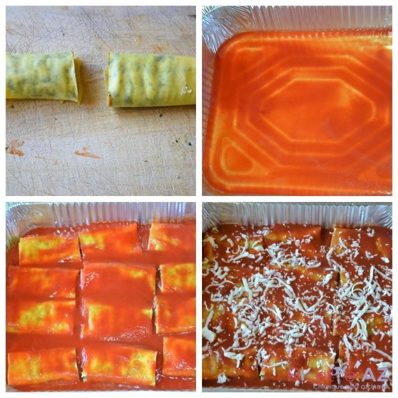 cannelloni ricotta e spinaci in teglia