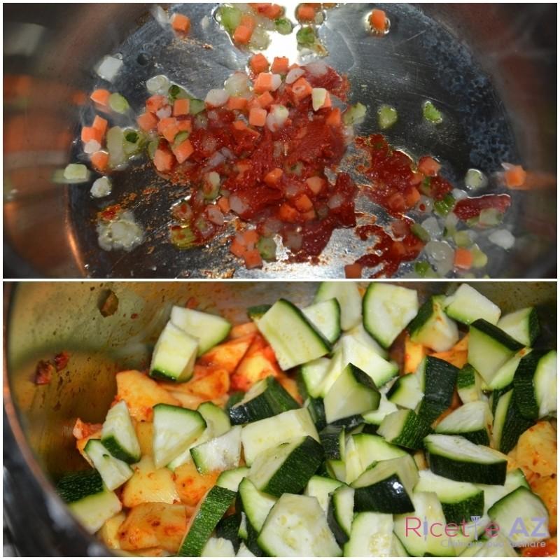 Minestra di zucchine preparazione