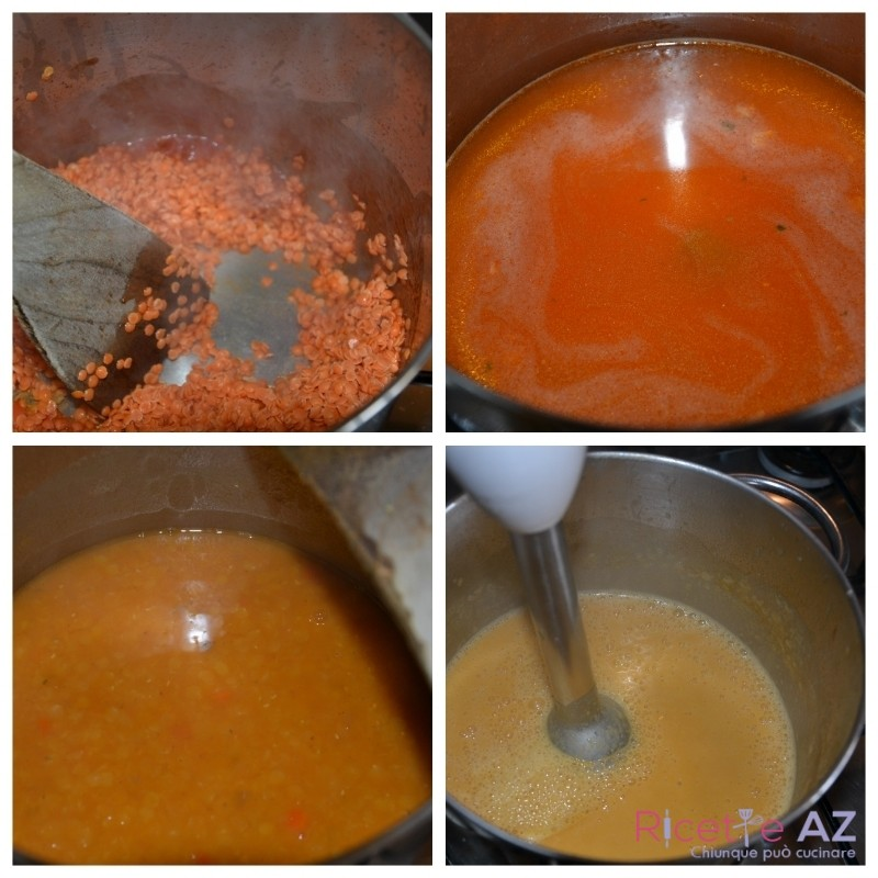 vellutata di lenticchie cottura