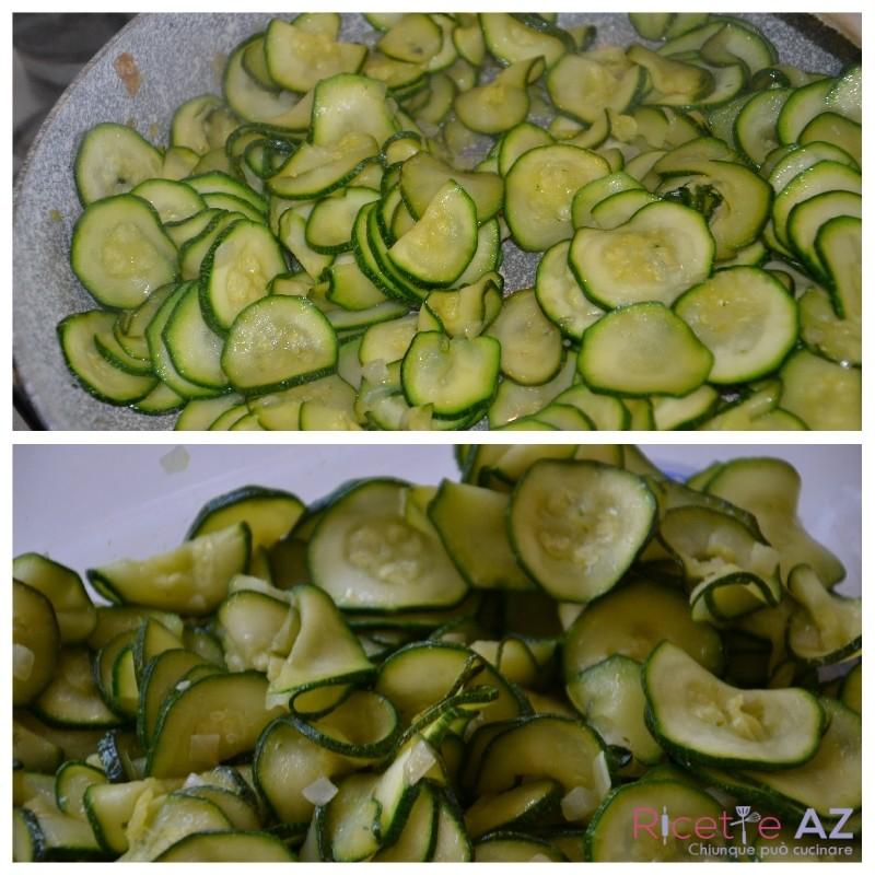 Zucchine in padella pronte