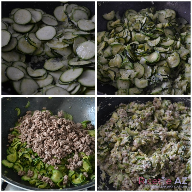 Sformato di zucchine preparazione
