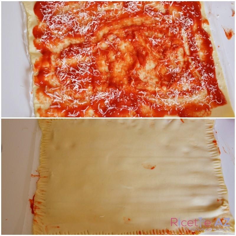 Stuzzichini di pasta sfoglia preparazione