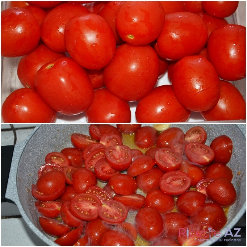 Sugo al pomodoro taglia i pomodori