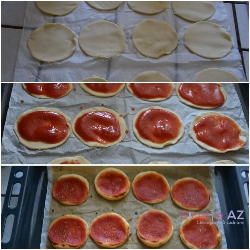 pizzette rosse preparazione