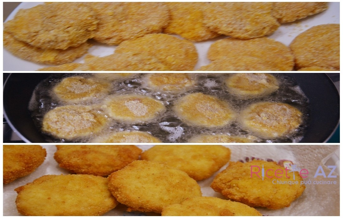 Crocchette di pollo fritte