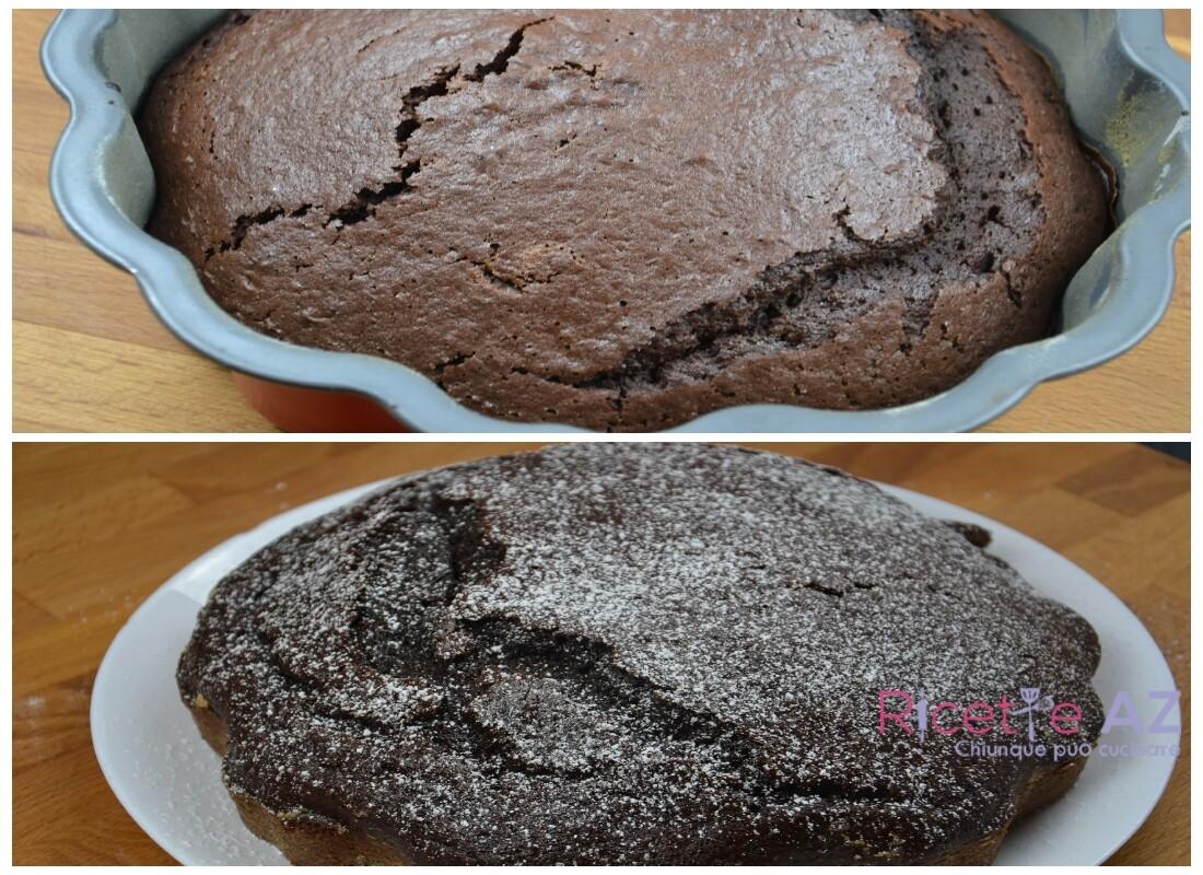 Torta al Cacao cottura