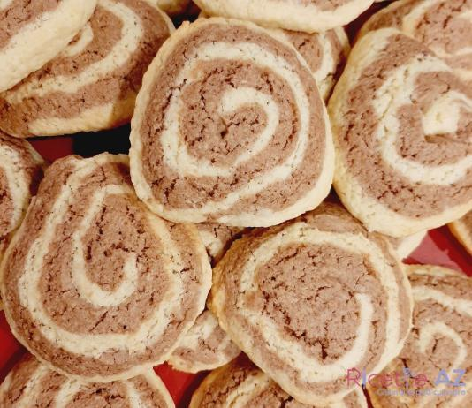 Biscotti bicolore a Forma di Spirale